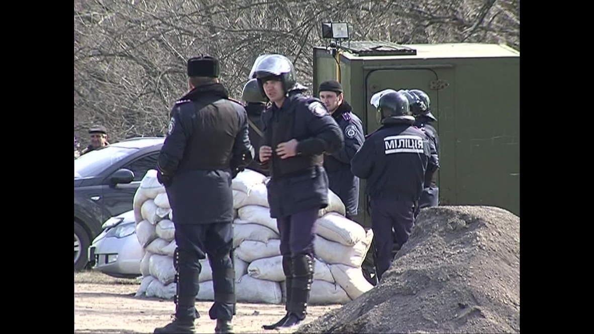 Ukraine: Police set up roadblocks around Lugansk