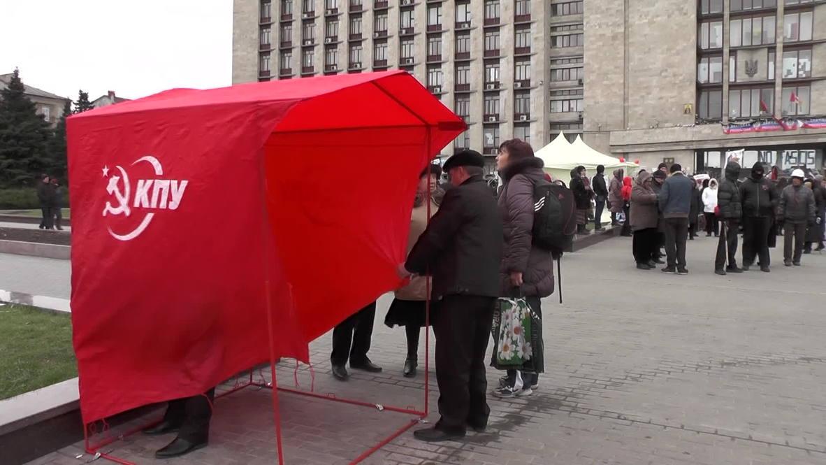 Ukraine: Tents surround occupied admin building in Donetsk