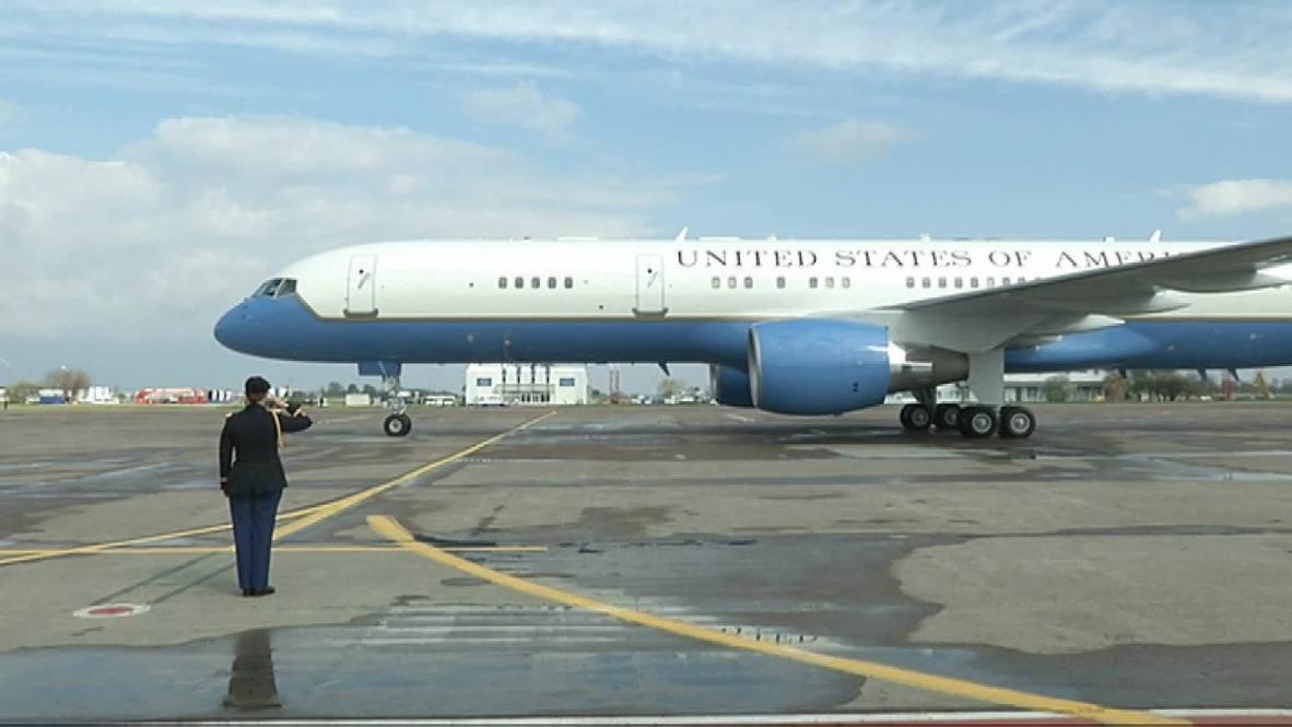 Ukraine: US VP Joe Biden arrives in Kiev