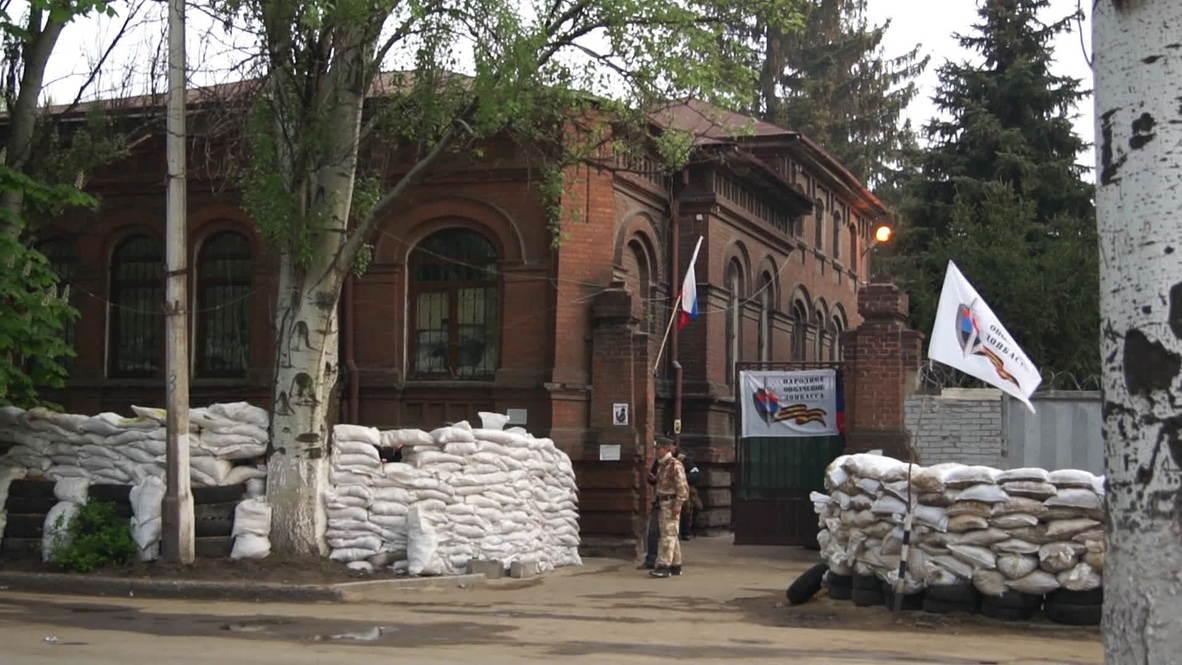 Ukraine: Self-defence units guard HQ following 'Kiev offensive'