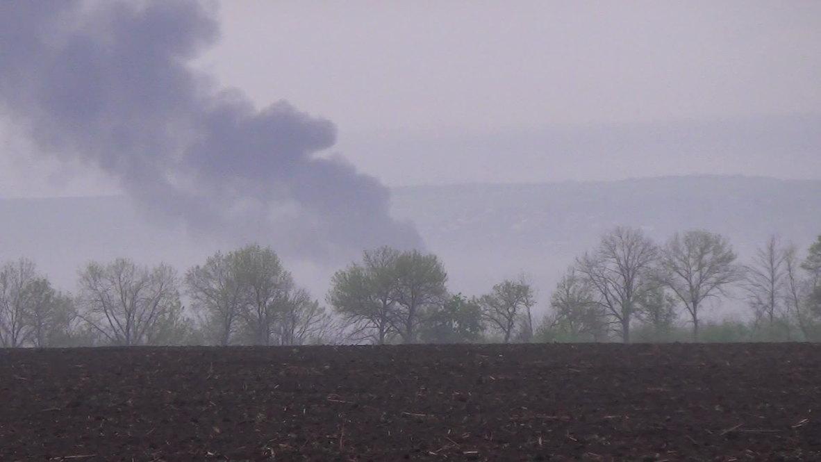 Ukraine: Smoke rises above Slavyansk