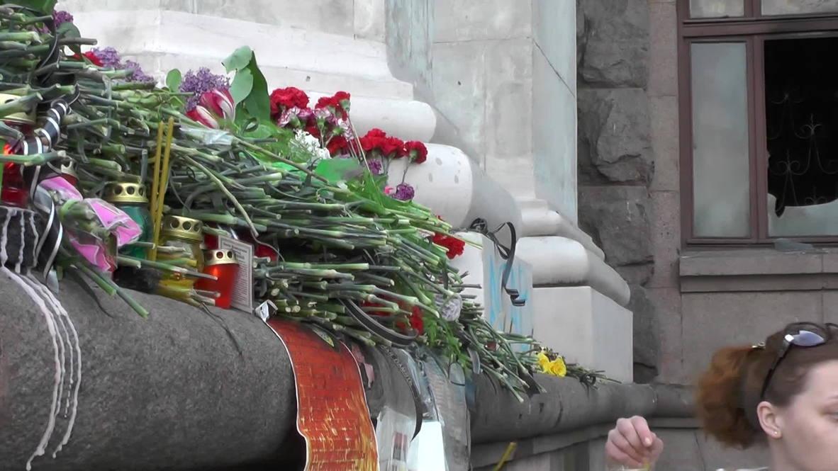Ukraine: Odessa mourns victims of fatal Trade Union Building blaze