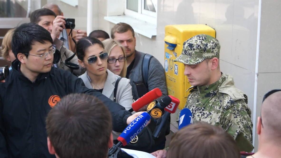Ukraine: People's Militia of Slavyansk say battle for Kramatorsk continues