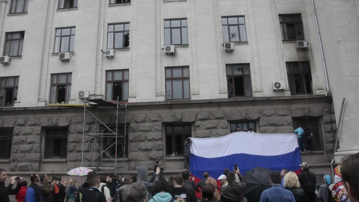 Ukraine: Site of fatal Odessa blaze opens to the public