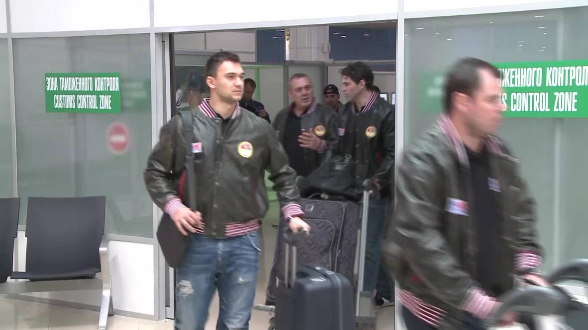 Belarus: Czech hockey team arrive in Minsk for World Championship