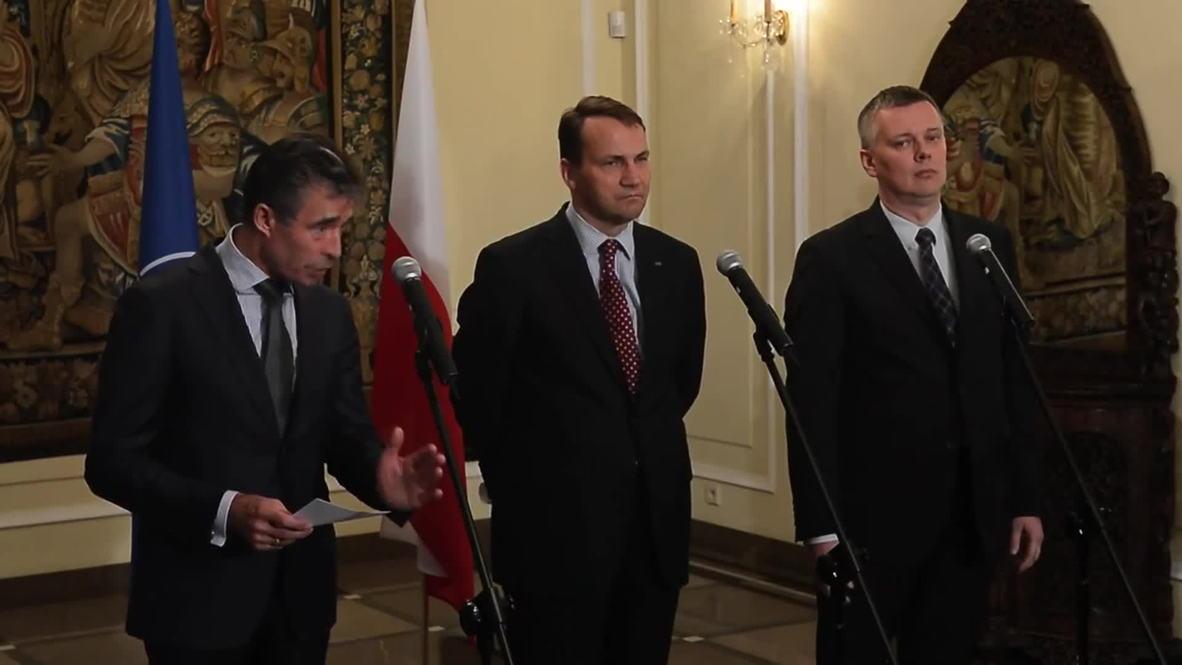Poland: NATO head says Ukraine 'separatists' threaten democracy