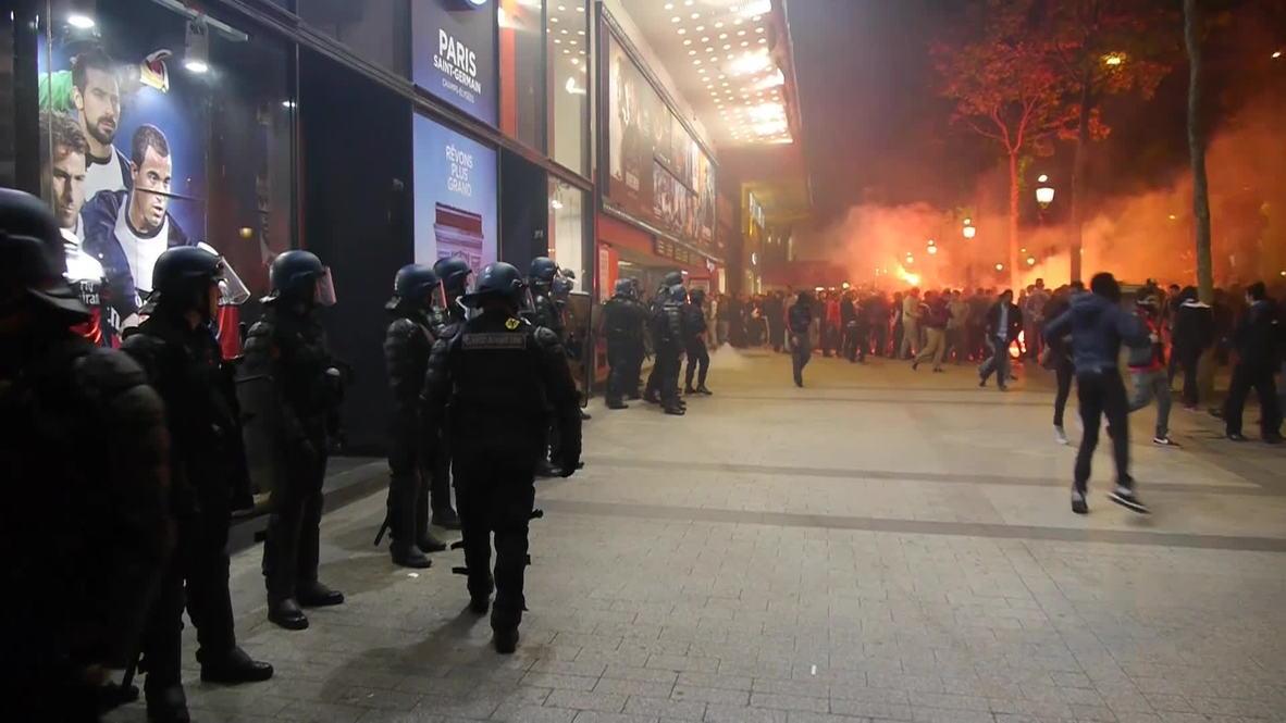 France: Police break up jubilant Saint Germain celebrations