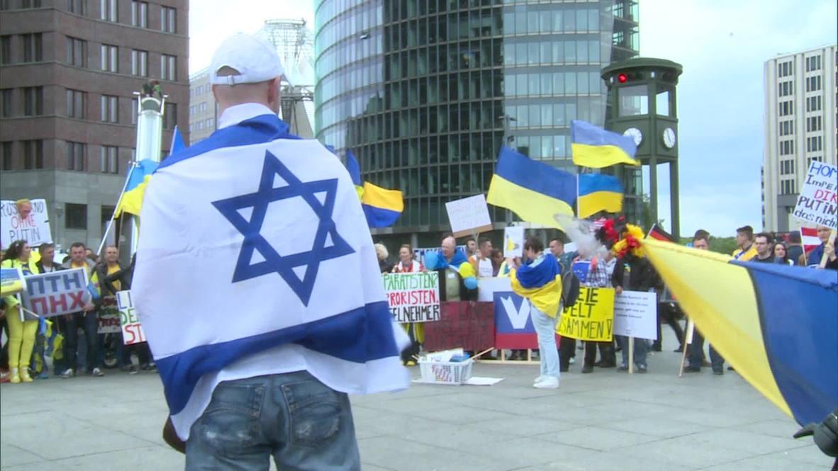 "Germany: Scores rally in ""solidarity with Ukraine"" in Berlin"