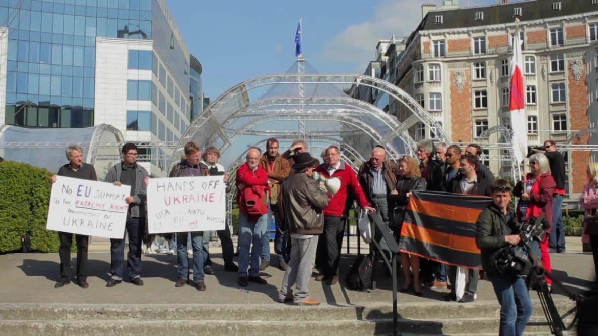 Belgium: Protest against EU policy on Ukraine
