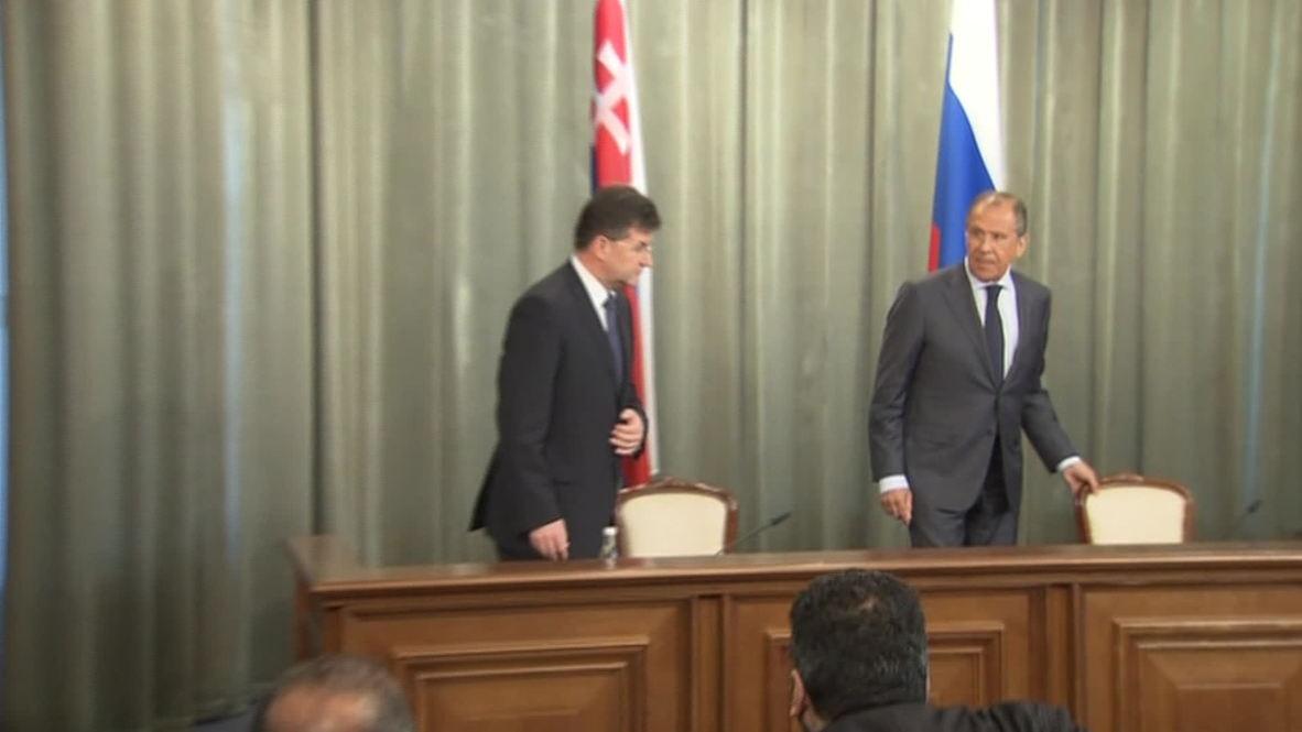 Russia: Lavrov and Lajcak discuss gas trade and Ukraine crisis