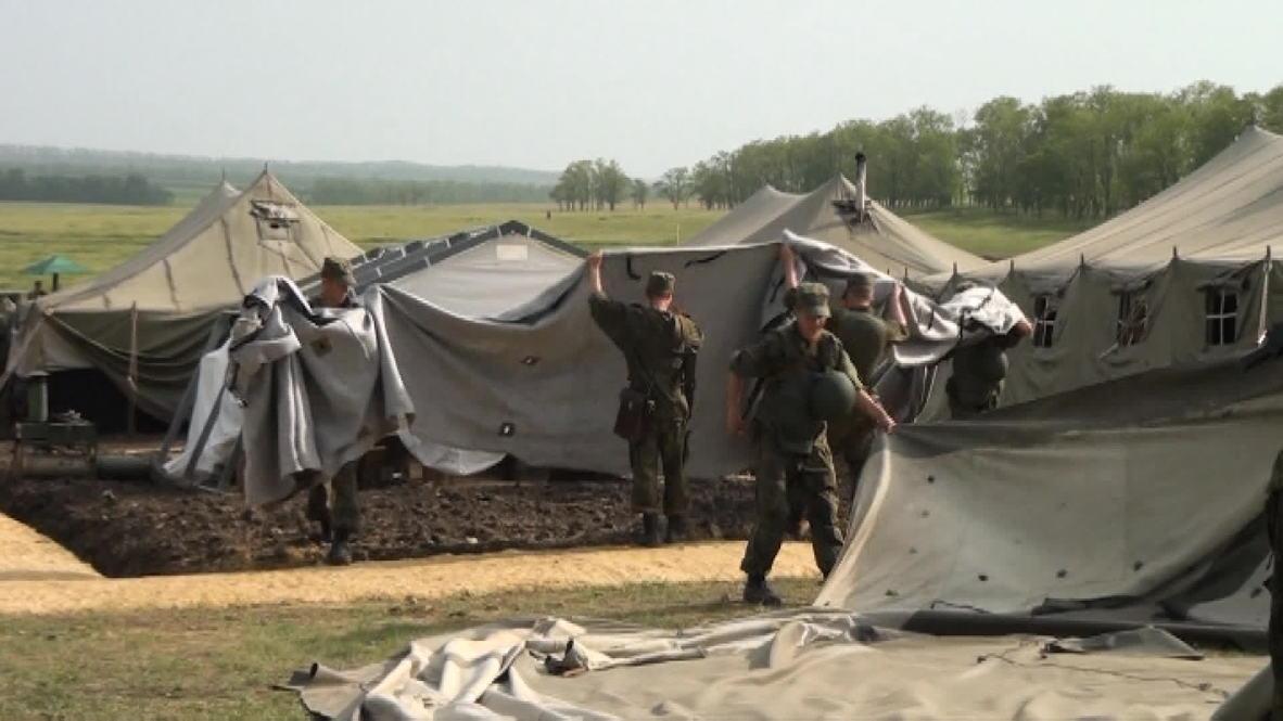 Russia: Russian troops roll back from Rostov region