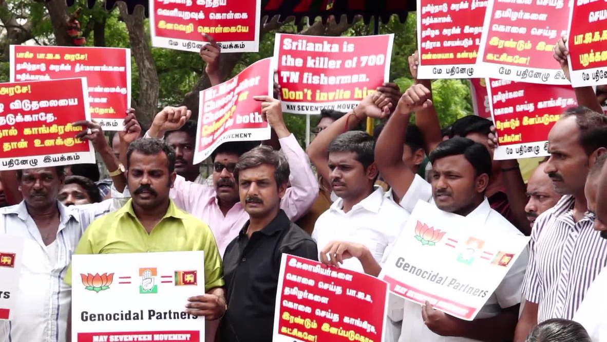India: Protesters oppose Modi's invitation to Sri Lankan leader