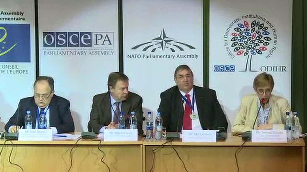 Ukraine: OSCE mission praise presidential election