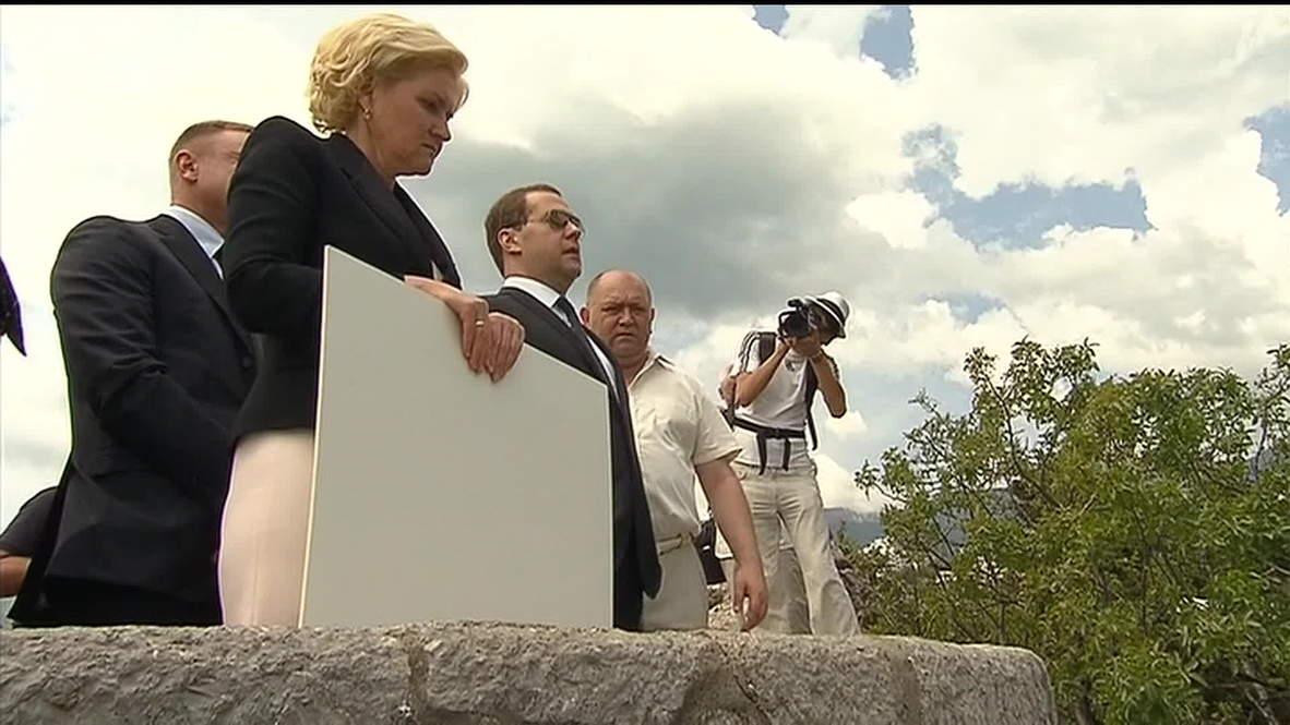 Russia: Medvedev visits famous Crimean kids camp, Artek