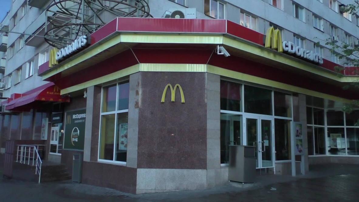 Ukraine: Even McDonald's shuts as Donetsk goes on lockdown