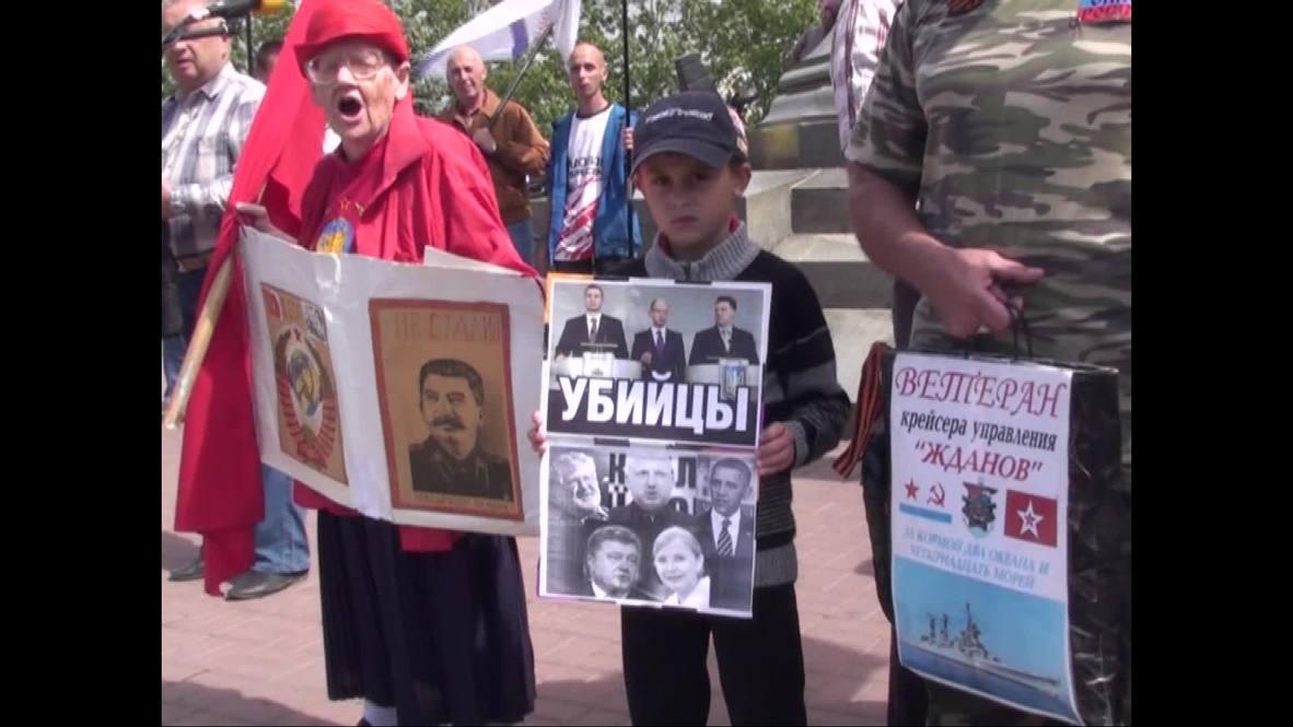 Russia: Sevastopol rally backs Donetsk independence