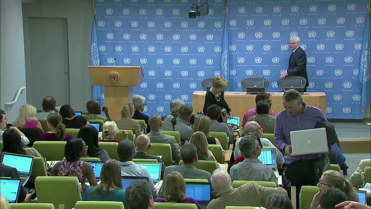 "UN: Churkin urges UN to create ""humanitarian corridor"" in Ukraine"