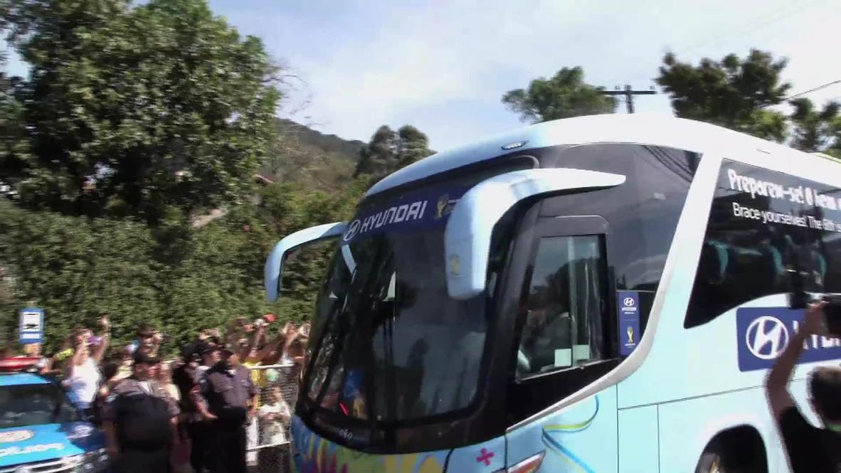 Brazil: Brazilian football team arrive at Teresopolis