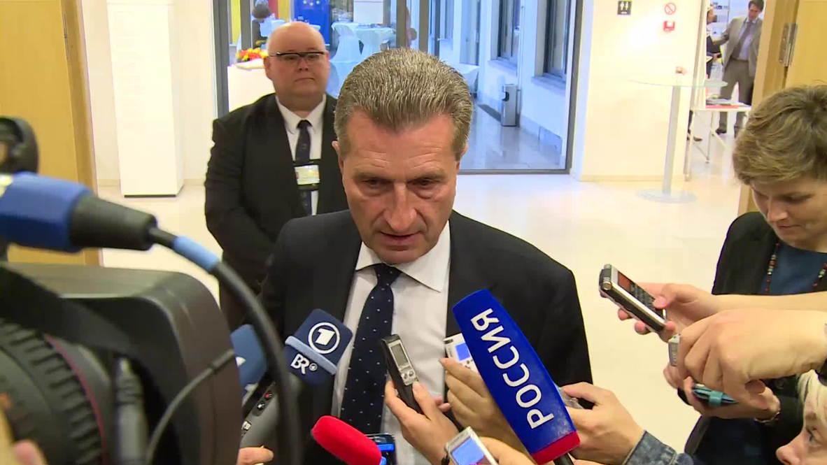 Belgium: Oettinger willing to continue gas talks