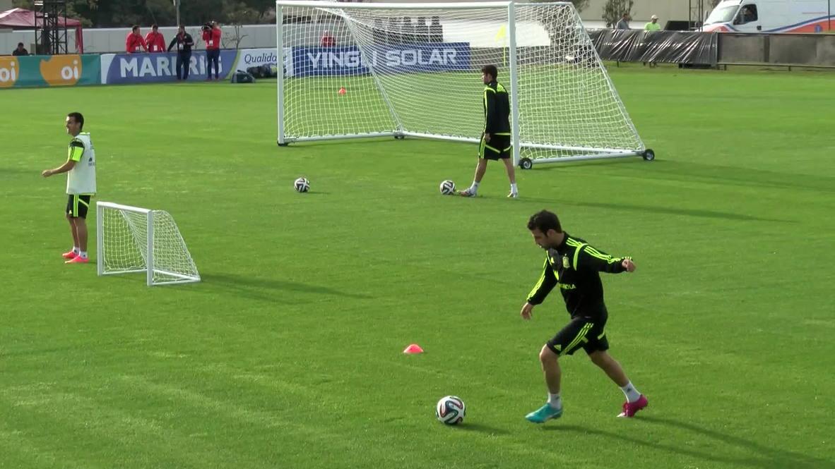 Brazil: Fabregas, Costa and Iniesta lead 'La Furia Roja' in training