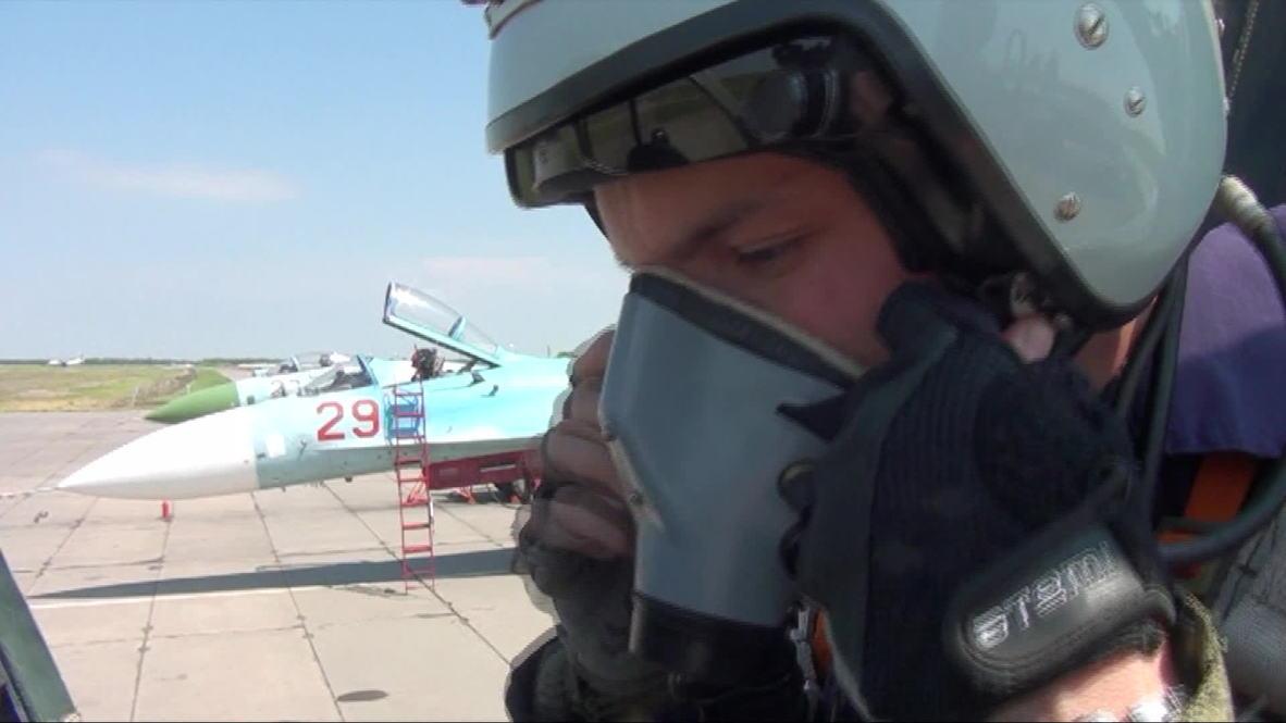 Russia: Su-27SM3 fighter jets take flight over Krasnodar region