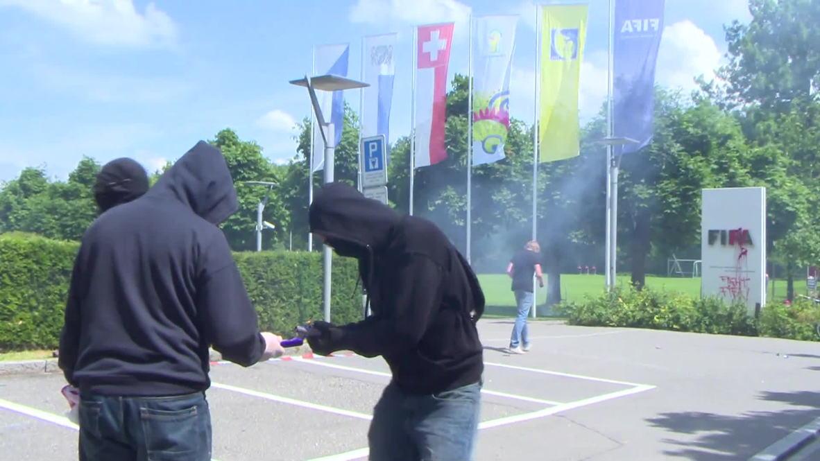 Switzerland: Protesters attack FIFA HQ