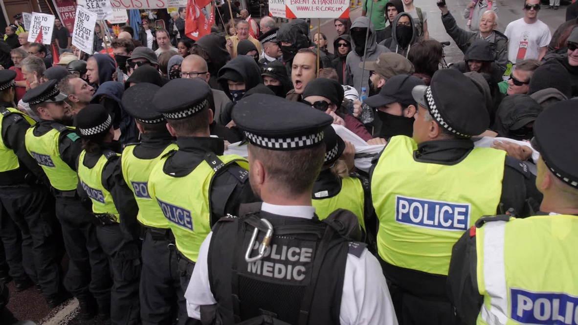 UK: Anti-fascists halt anti-Muslim Brotherhood march