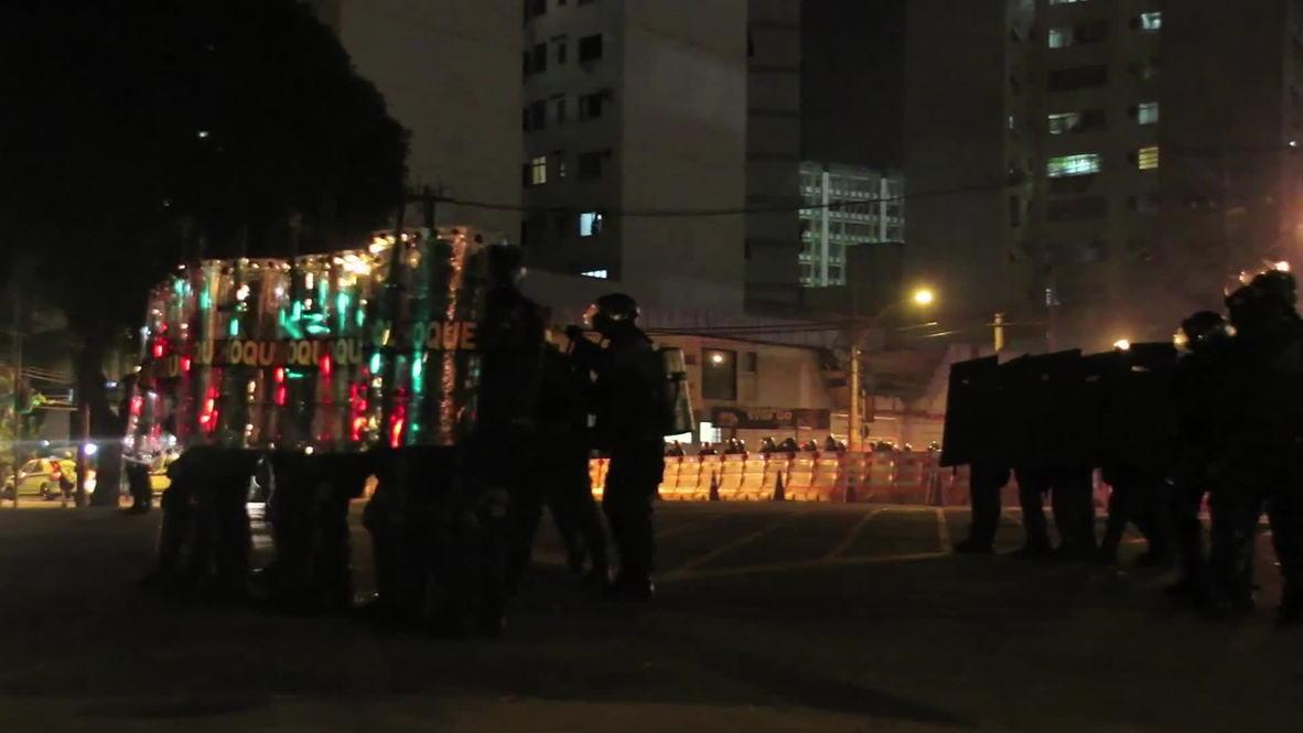 Brazil: Street fighting erupts as Argentina beat Bosnia