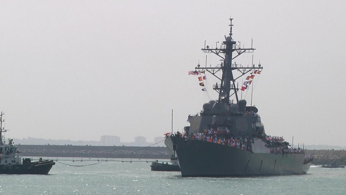 Spain: USS Ross guided-missile destroyer arrives in Cadiz