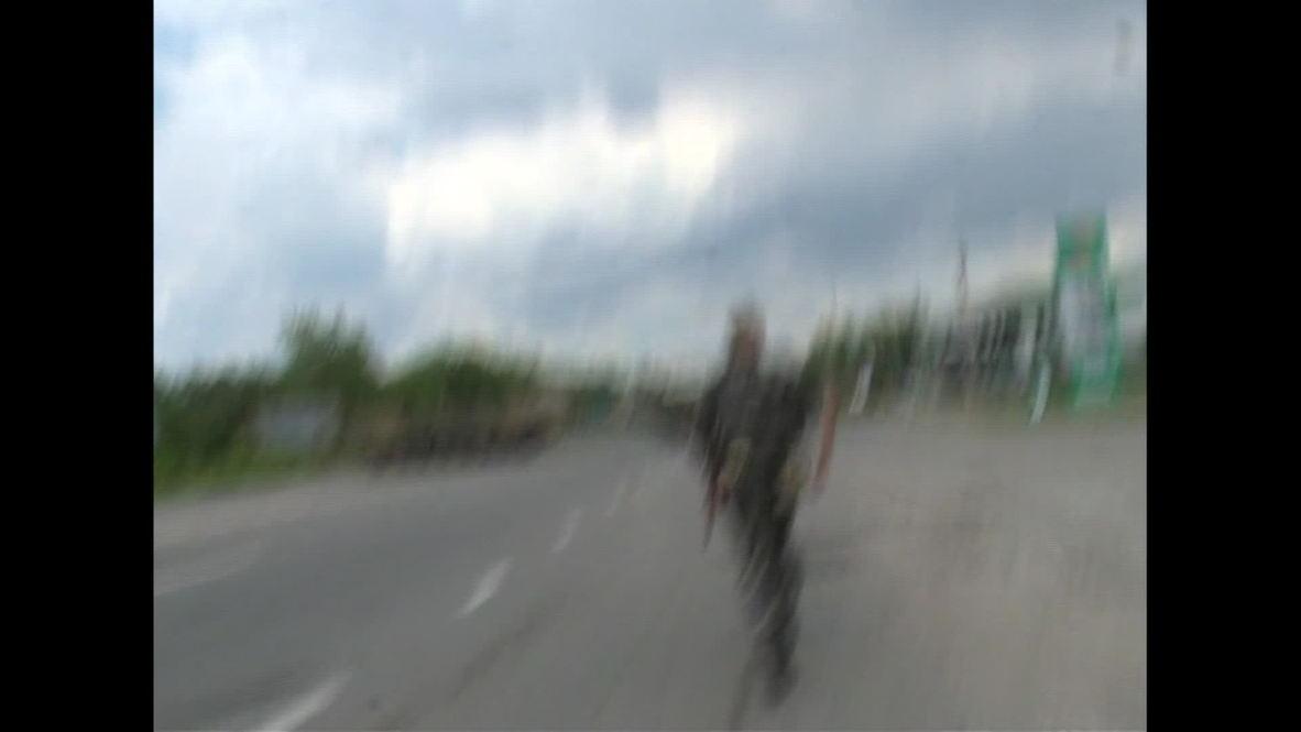 Ukraine: Moment a Ukrainian army shell explodes killing Russian journalists