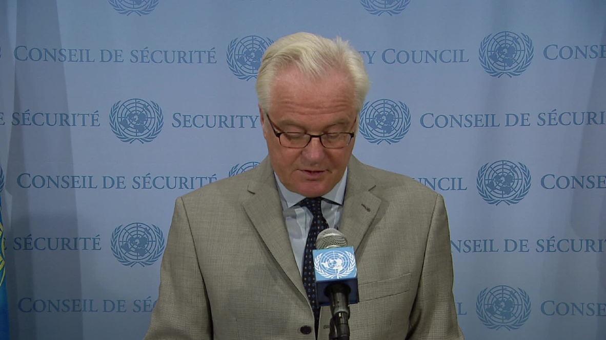 UN: Churkin expresses condolonces to Ukraine journalists