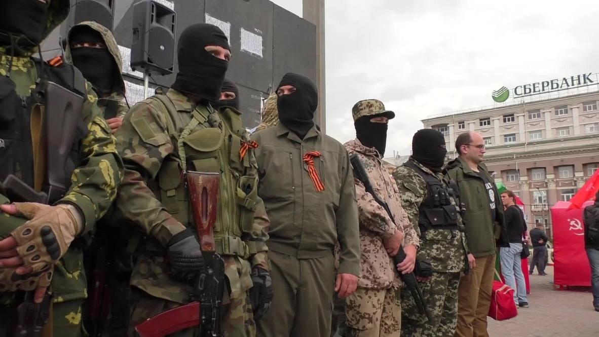 Ukraine: Dozens of new recruits swear allegiance to DNR forces