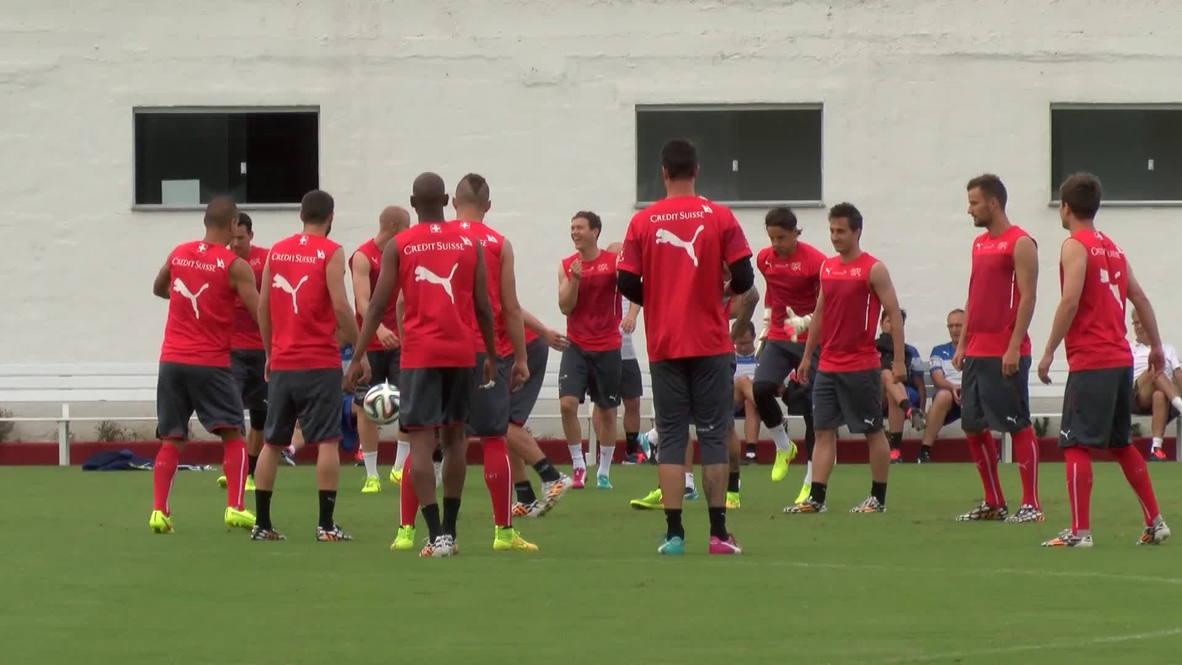 Brazil: Swiss team chirpy in Porto Seguro training session