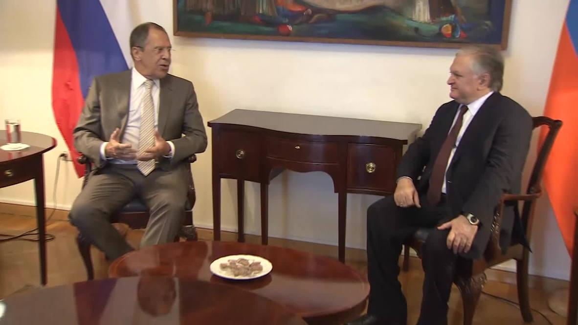 Armenia: Lavrov meets counterpart in Yerevan
