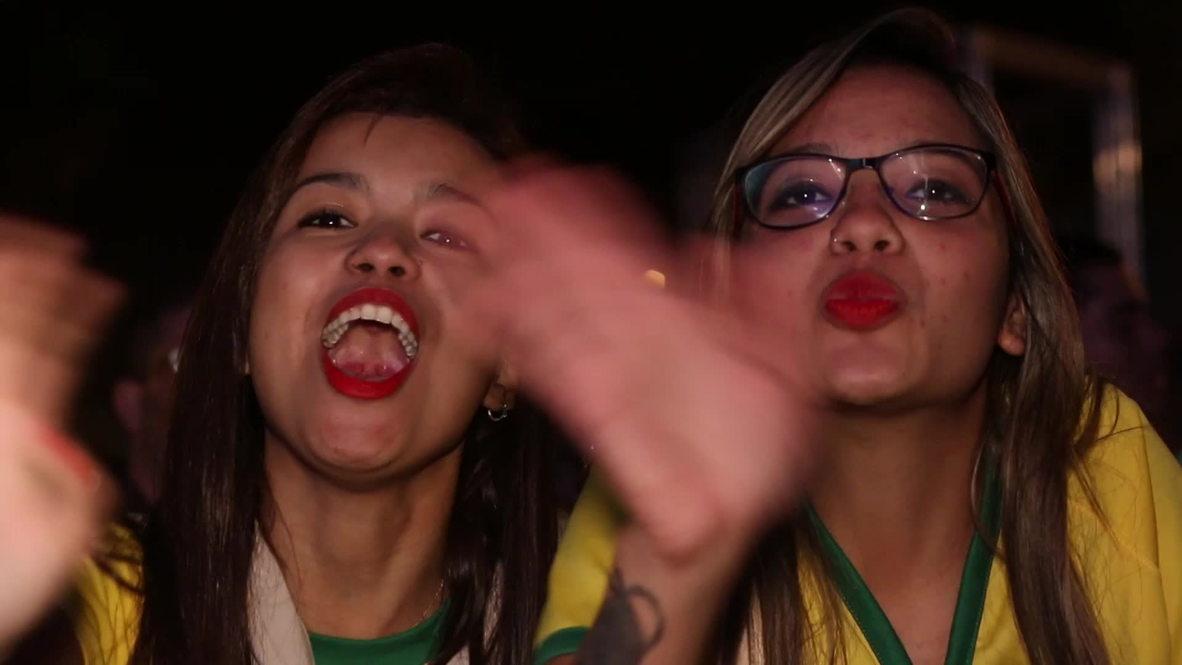 Brazil: Brazilian fans go wild after smashing Cameroon 4-1