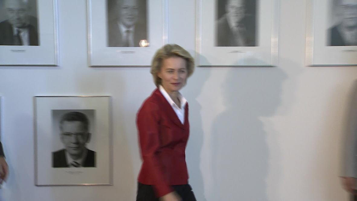 Germany: Ursula von der Leyen meets Jens Stoltenberg in Berlin