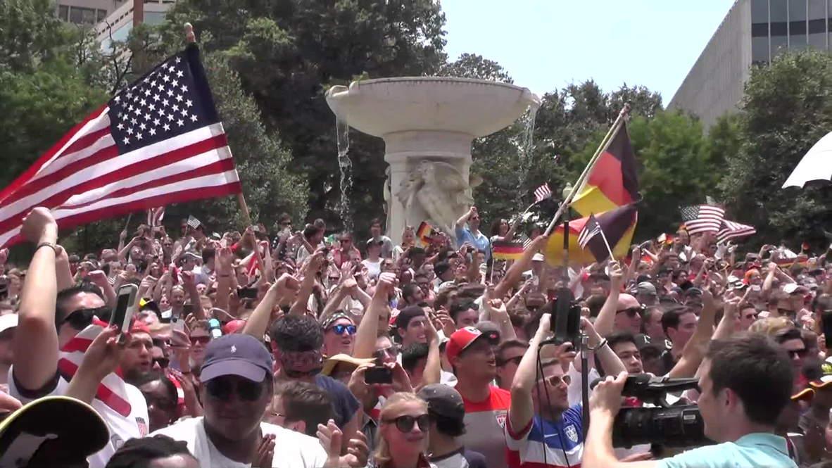 USA: Fans cheer despite loss to Germany