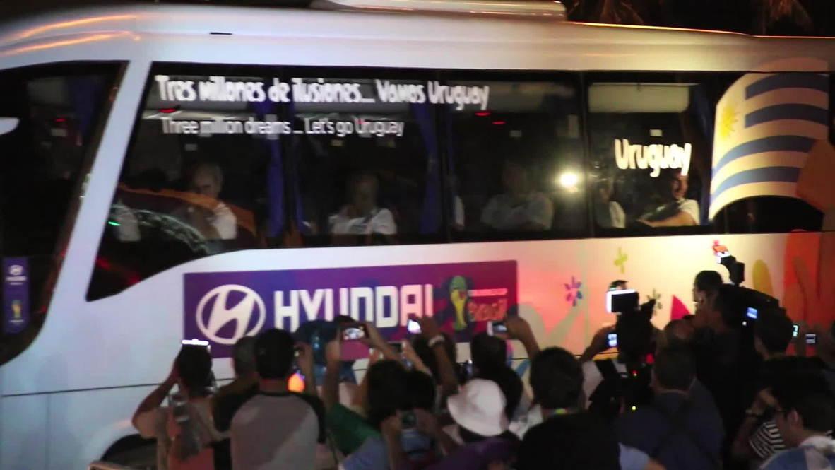 Brazil: Uruguay team returns to hotel minus Suarez