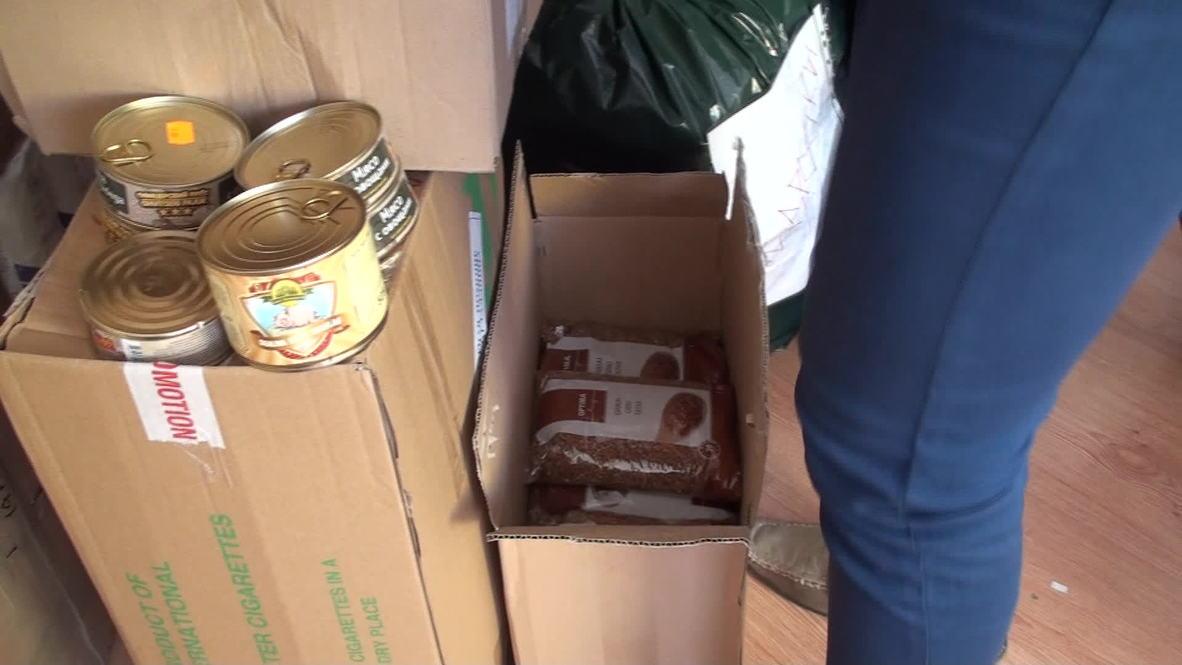 Estonia: Locals donate supplies for suffering Ukrainians