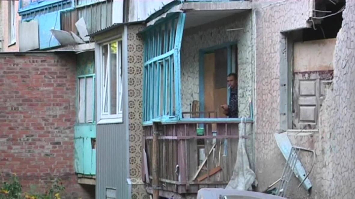 Ukraine: Slavyansk homes destroyed during overnight shelling