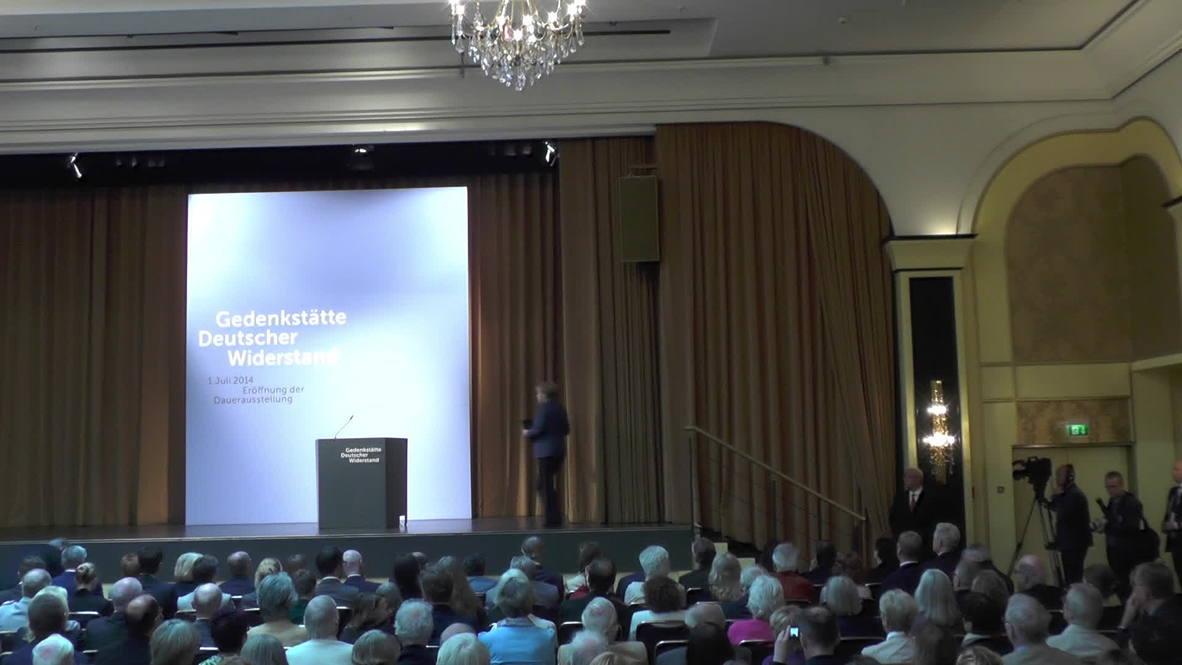 Germany: Merkel attends Nazi Resistance Memorial opening