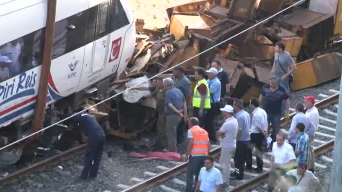 Turkey: High-speed train crashes during test run