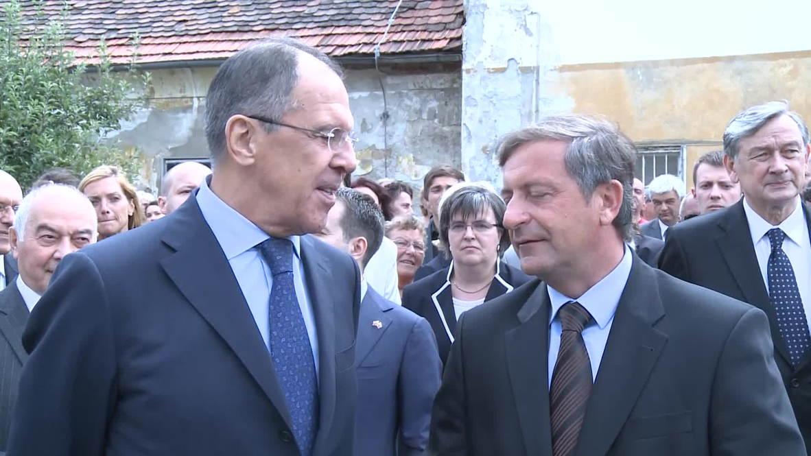 Slovenia: Lavrov urges EU to remove barriers for South Stream