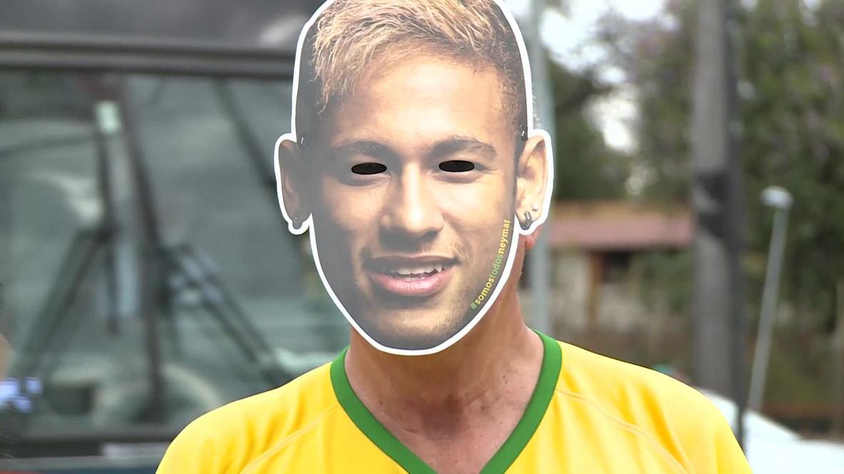 Brazil: Thousands of Neymars descend on World Cup semi-final