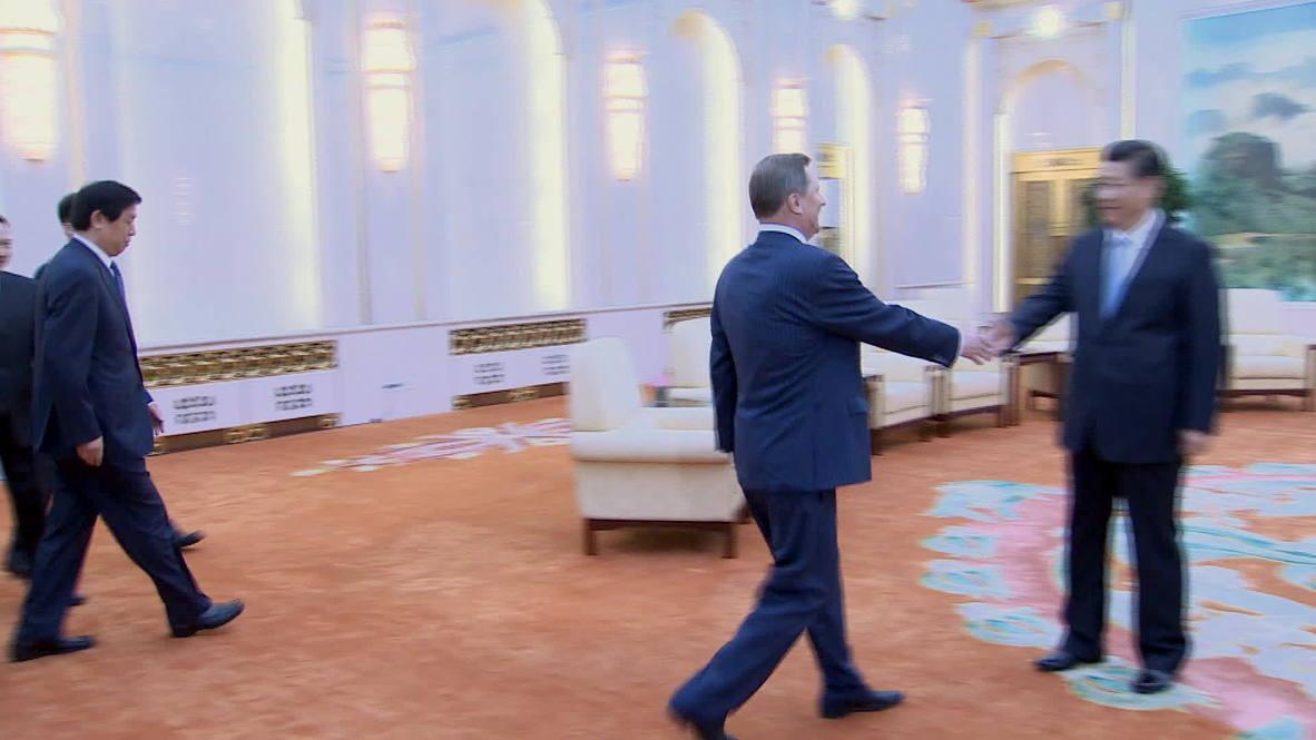 China: Xi Jinping welcomes Russian presidential administration head Sergei Ivanov to Beijing