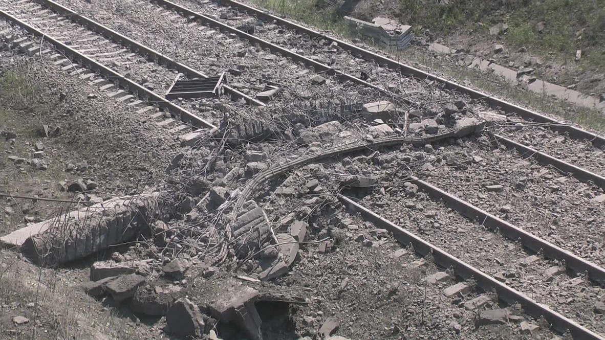 Ukraine: Road bridge blown up in Donetsk region