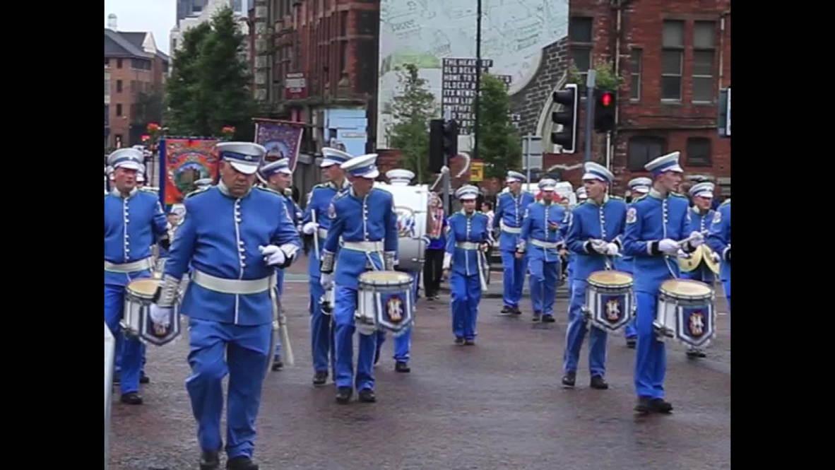UK: Orangemen parade through Belfast