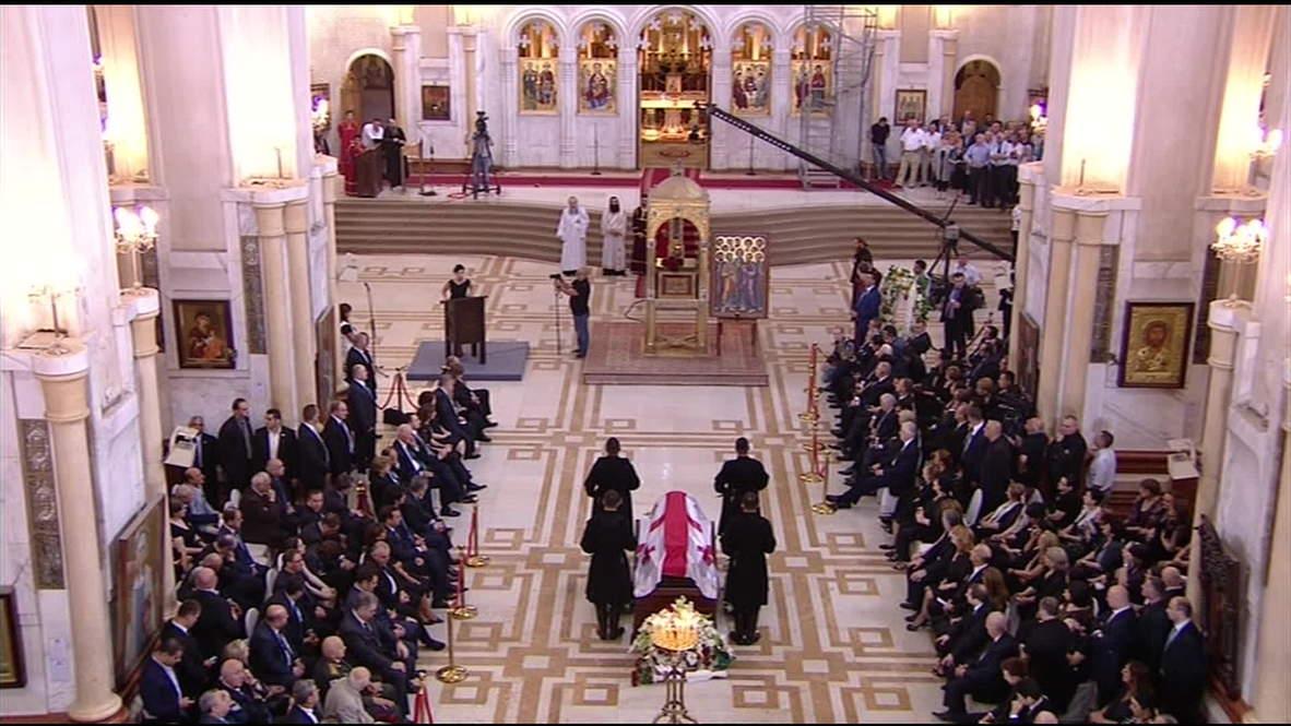 Georgia: Mourners bid farewell to Shevardnadze in Tbilisi