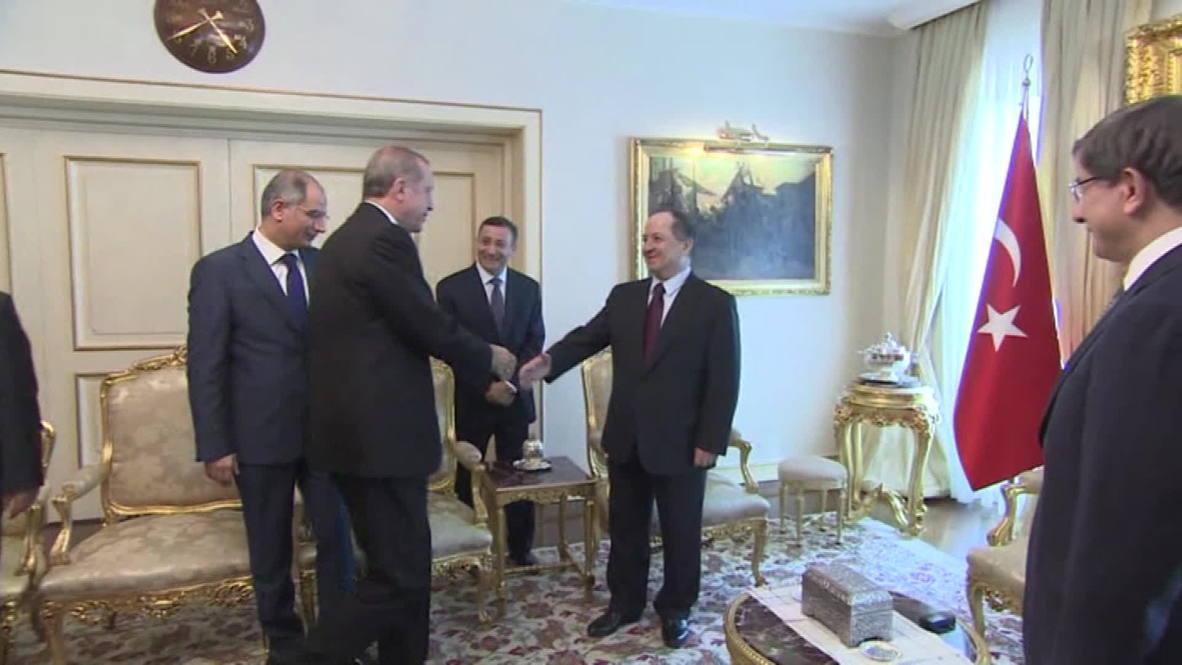 Turkey: Erdogan extends warm welcome to Kurdish leader Barzani in Ankara