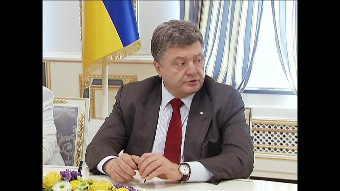 Ukraine: MH17 plane crash an act of terrorism says Poroshenko